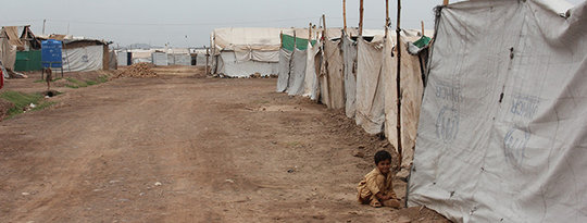 The Jalozai camp in Pakistan's Nowshera District