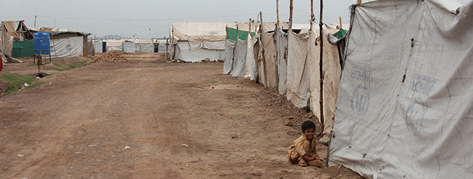 The Jalozai camp in Pakistan