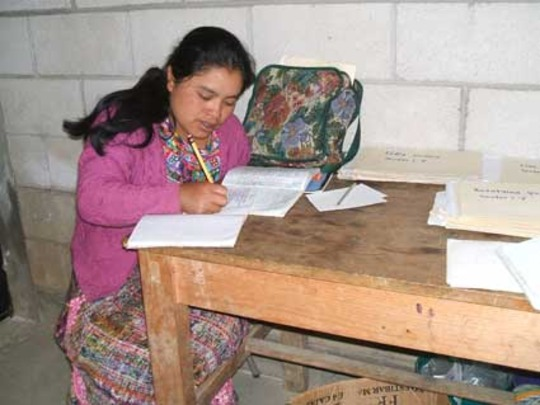 Cristalina making child growth entries.