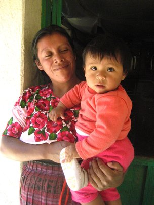 A mother and her child in Chichimuch