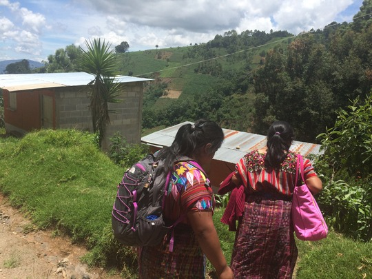 Our community health workers going home-to-home