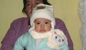 Sheny, a child now growing in our program!