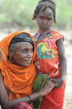 An Afar grandmother with her grandchild