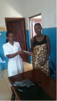 Expectant Mother receives a birthing kit