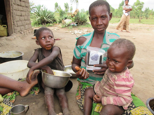 An impoverished Congolese mother, life is a hard