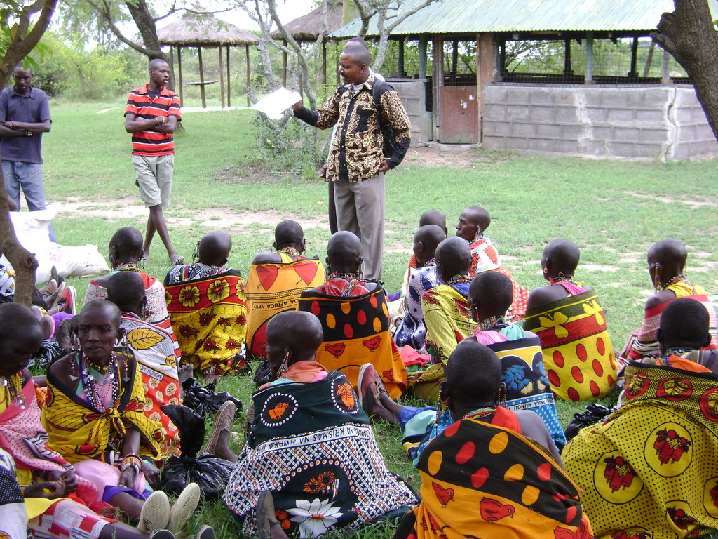 Dr Luc with Maasai Birth Attendants