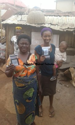 Recipients of Birthing Kits, Peach Aid, Nigeria