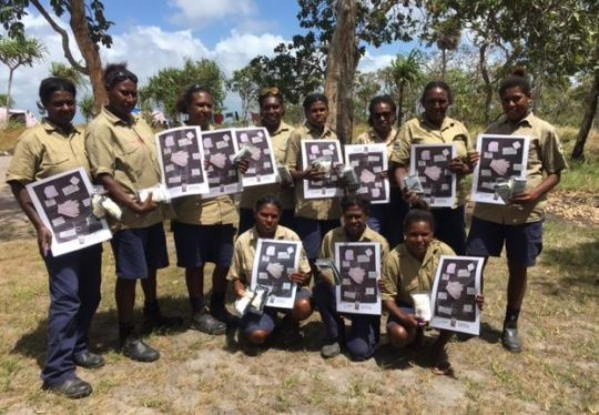11 female community rangers trained to use kits