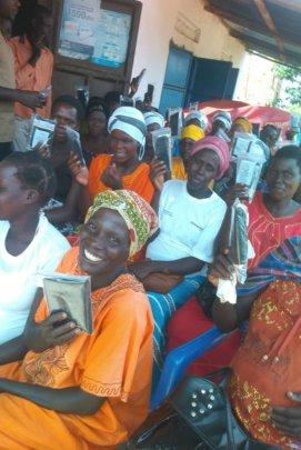 Women receive birthing kits Kameke, Eastern Uganda