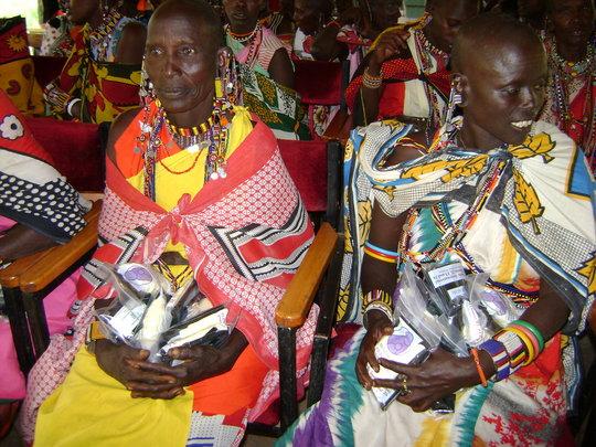 Maasai Mara women with their kits after training