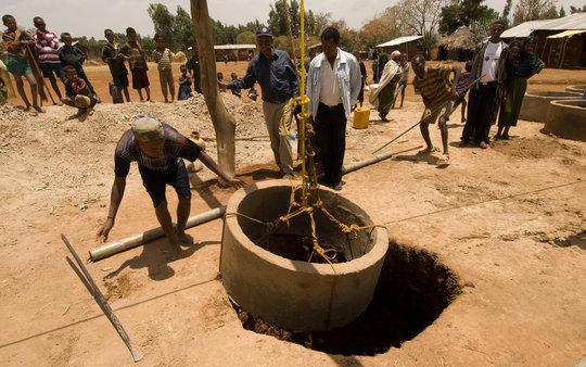 Hand-dug well, Ethiopia 2