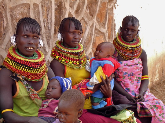 Three Moms from the Turkana Tribe