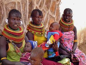 Three Moms from the Turkana Tribe