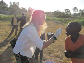 CHAT volunteer in the field