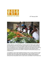 Harvest of Hope newsletter to clients (PDF)