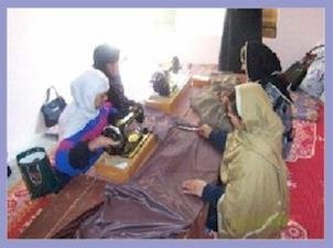 Afghan Women Earning Income through Tailoring
