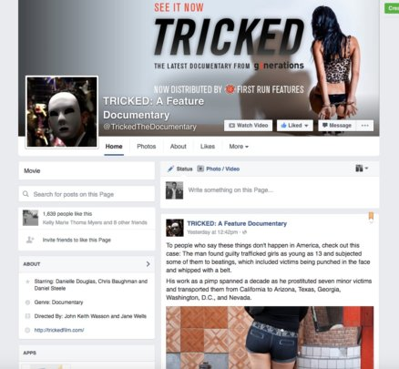 Tricked Facebook page