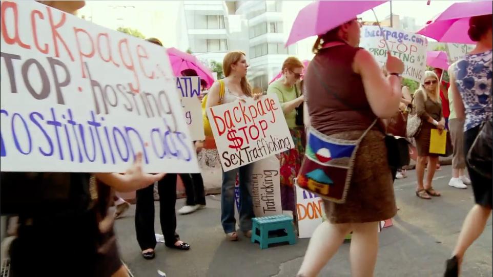 Danielle Protesting Backpage.com