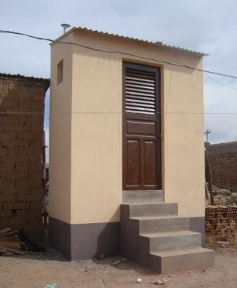The finished EcoSan toilet