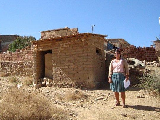 Woman in suburban area of Cochabamba, Bolivia