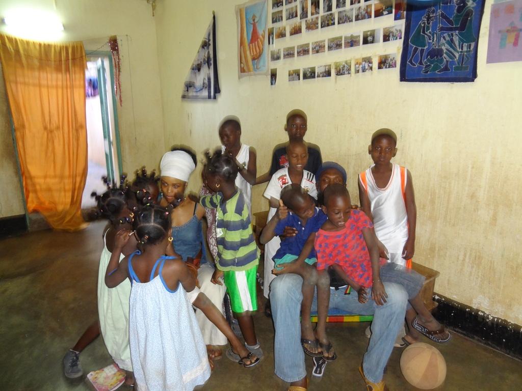 Children, volunteers and staff