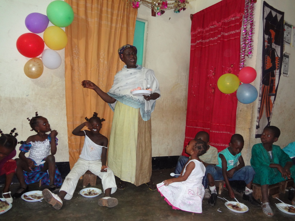 Children enjoying their Christmas Party Dinner