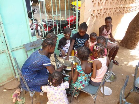 Children enjoying their new diet meal