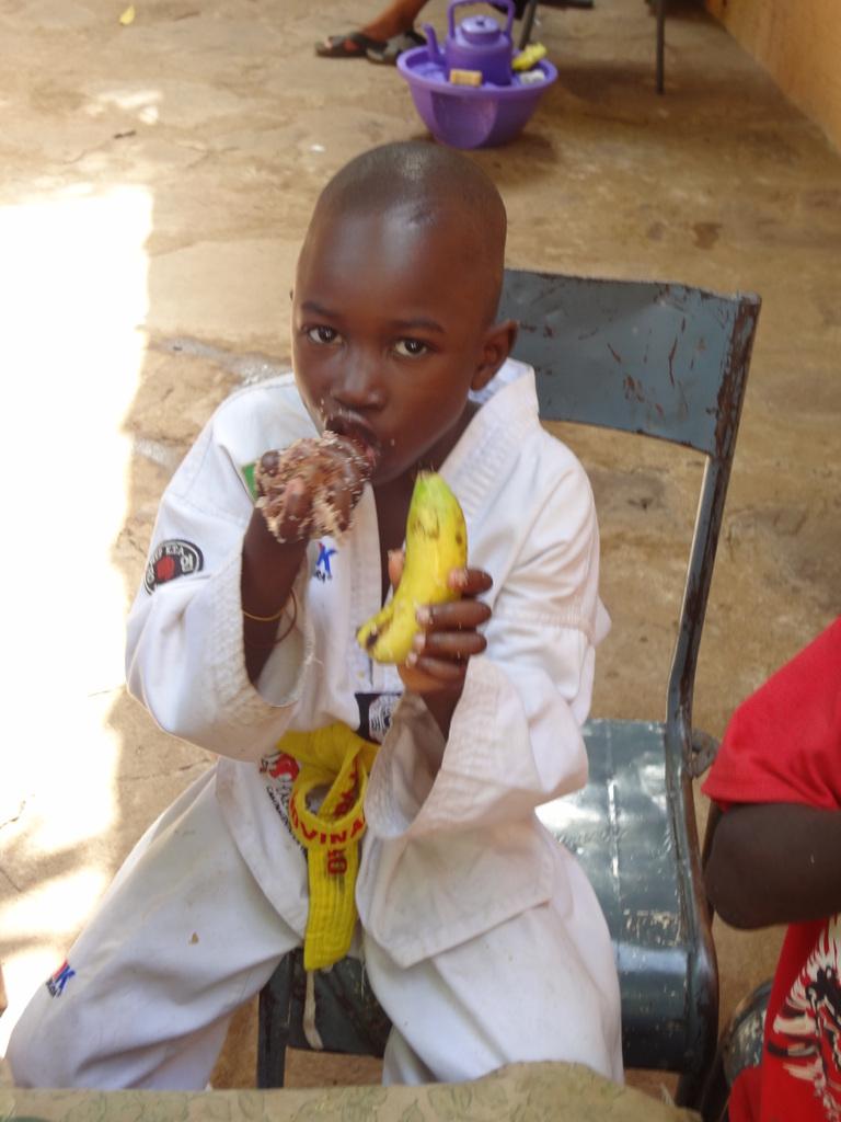 Children enjoying a meal