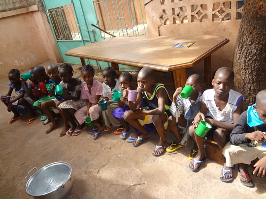 Children sharing a meal