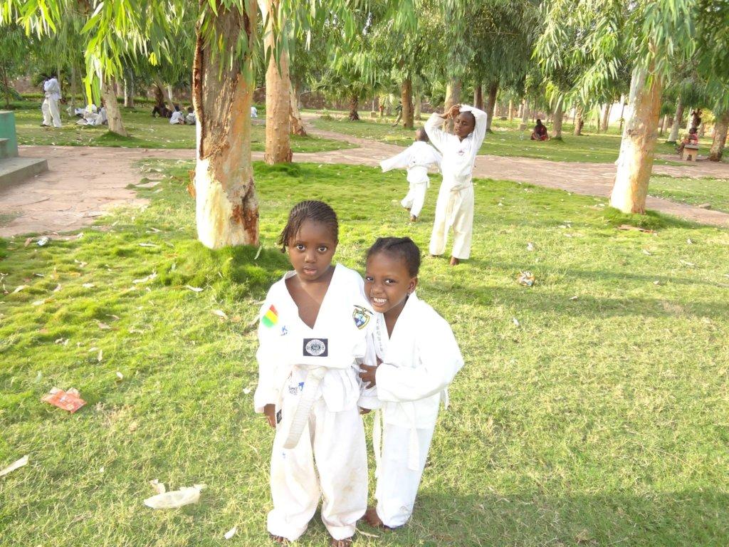 Kids at taekwondo