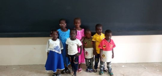 Kids in the new classroom