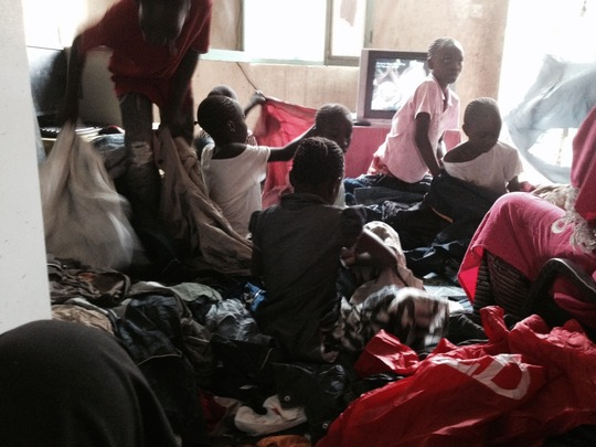 Children choosing clothes