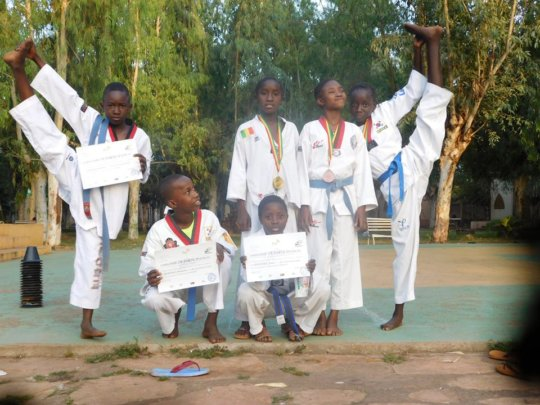 Children in Taekwondo Ceremony