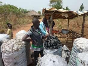 Charcoal production in rural Uganda