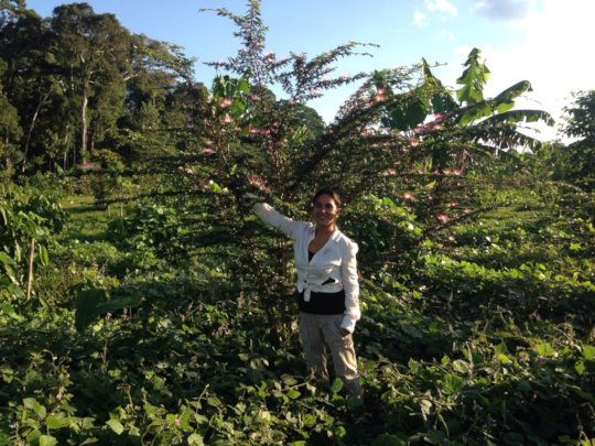 In the Peruvian Amazon, a 15 month old Bobinsana