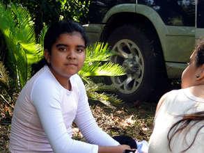 Student at La Reserva forest reserve in Costa Rica