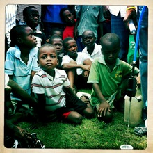 kids waiting for more clean water