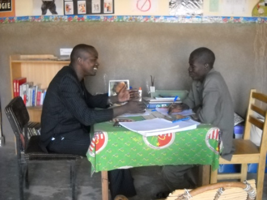 Dounko with Belehede Librarian During Training