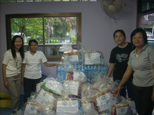 Siam-Care staff preparing emergency bags