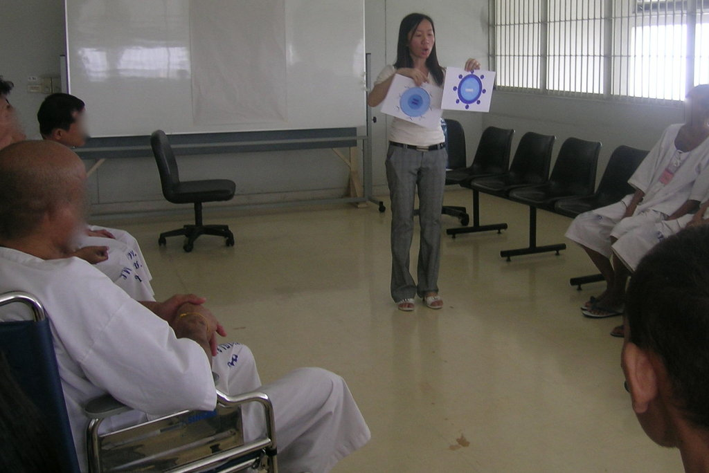 SC staff in a teaching session in prison