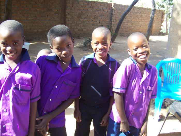 Boys playing at Mrs. Sianga