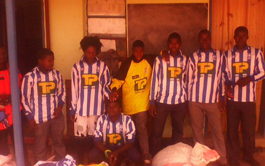 Grade 8 Boys in Sports Kit from the Container