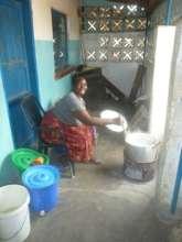 Preparing lunch
