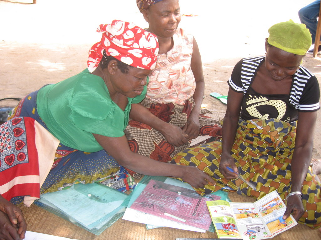Traditional Midwives Reviewing Training Materials