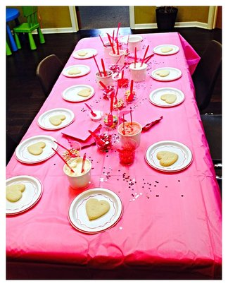 Valentine's Day activities at Raphael House