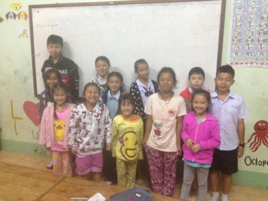 CLC English Beginner Teacher, Mai and students