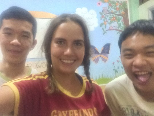 Left to Right: Tommy, CLC teacher Channing, Seoul