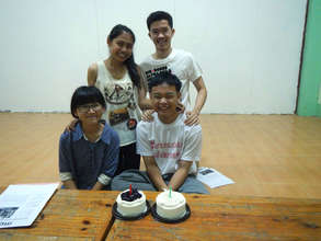 Some of our CLC students with birthday cakes !
