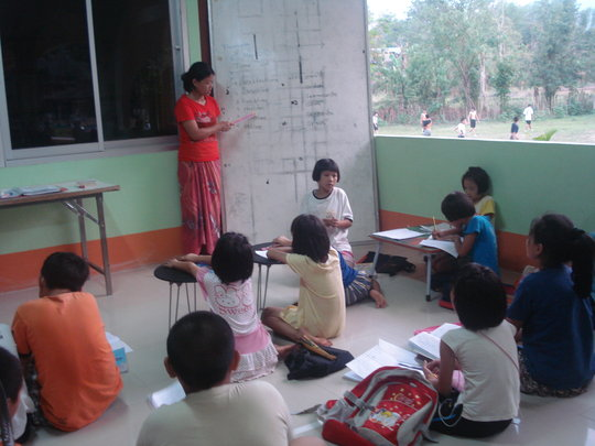 CLC children from the local village working hard!
