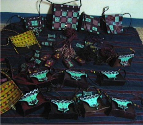 New leather purses from Albaye co-op.